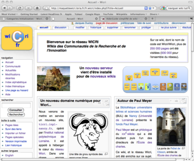 La page d'accueil au 6 mai 2010