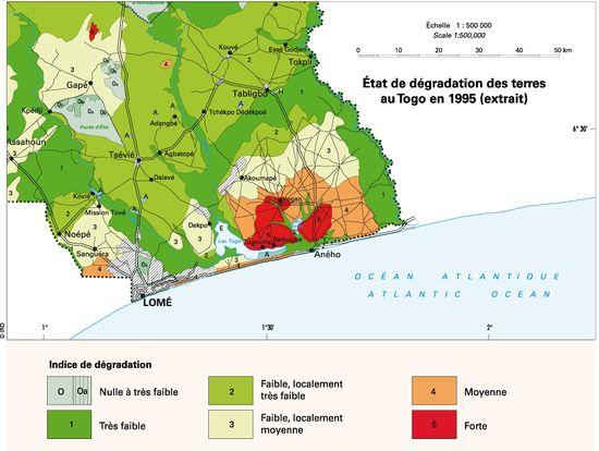 Extrait de la carte du Togo