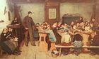 Ce tableau de Albert Anker illustre une activité à caractère pédagogique sur une page