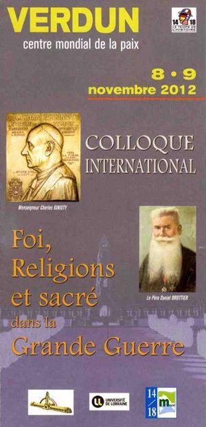 Visuel Foi, religions et sacré dans la Grande Guerre 2012 Verdun.jpg