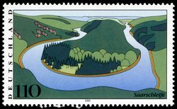 Stamp Germany 2000 MiNr2133 Saarschleife.jpg